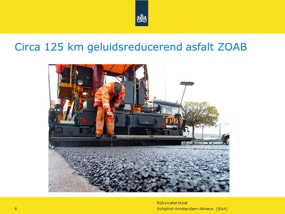 Circa 125 km geluidsreducerend asfalt ZOAB