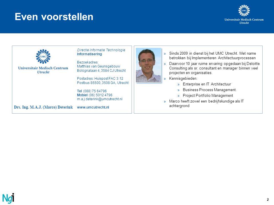 Even voorstellen Directie Informatie Technologie Informatisering. Bezoekadres: Matthias van Geunsgebouw Bolognalaan 4, 3584 CJ Utrecht.