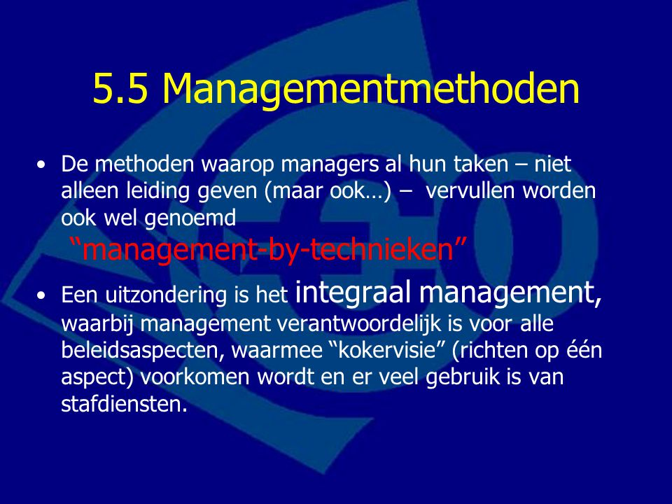 5.5 Managementmethoden