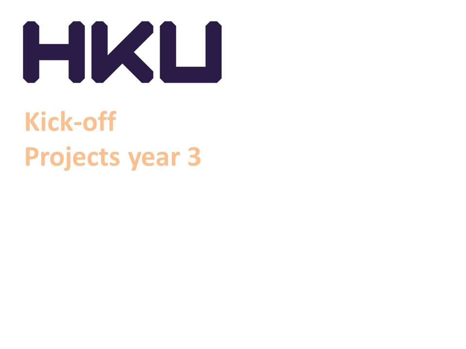 Kick-off Projects year 3