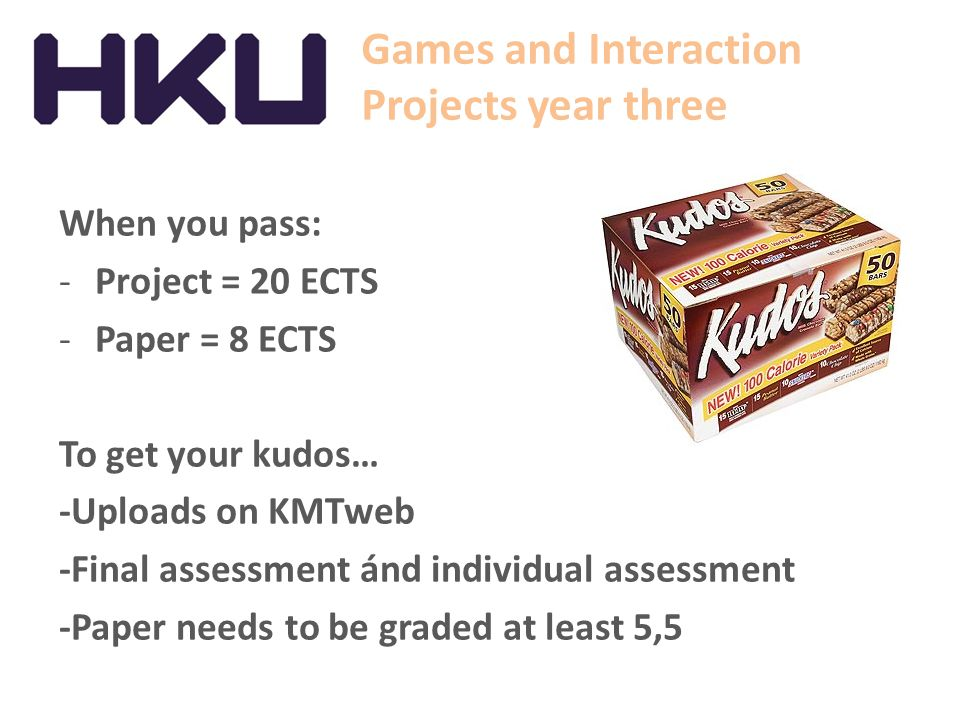 Games and Interaction Projects year three