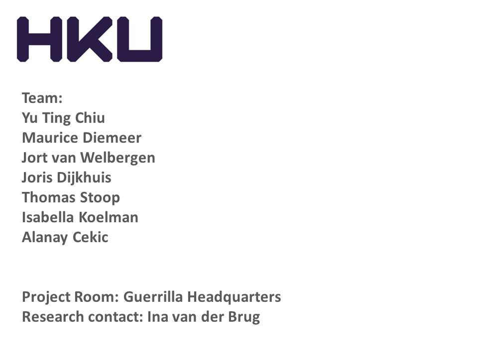 Team: Yu Ting Chiu. Maurice Diemeer. Jort van Welbergen. Joris Dijkhuis. Thomas Stoop. Isabella Koelman.