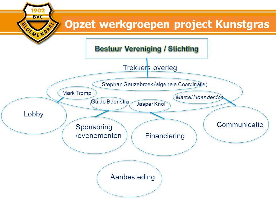 Opzet werkgroepen project Kunstgras
