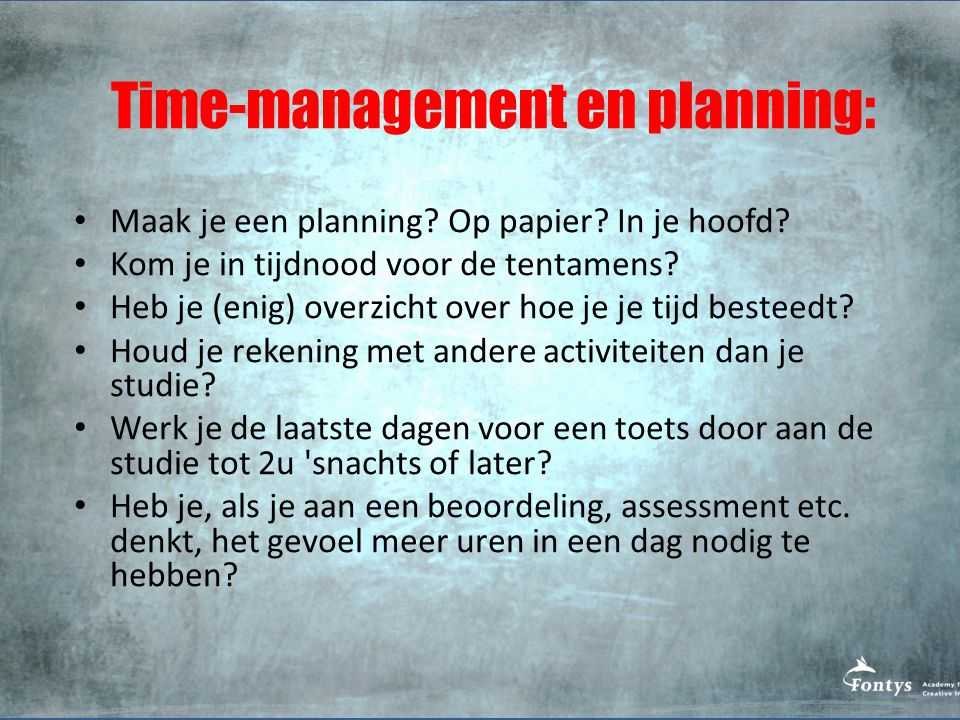 Time-management en planning: