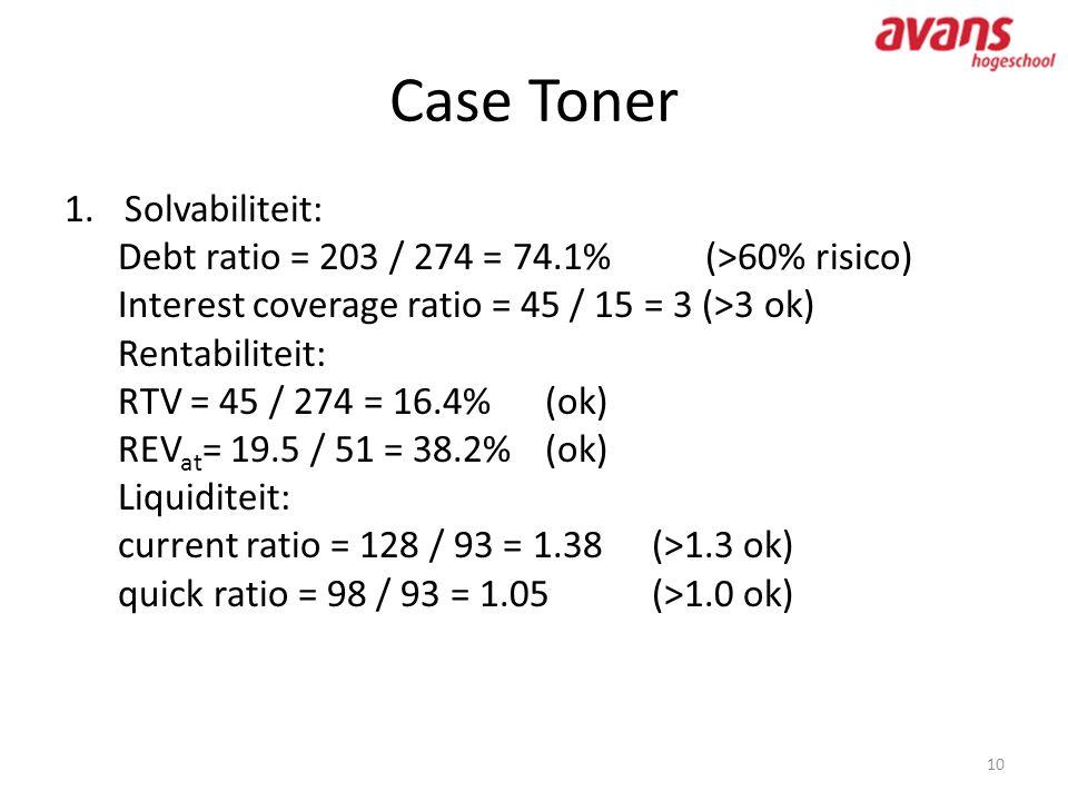 Case Toner Solvabiliteit: