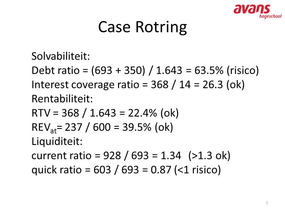 Case Rotring Solvabiliteit: