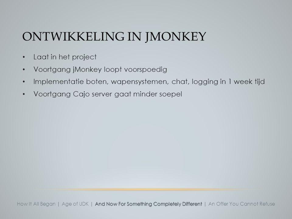Ontwikkeling in jMonkey