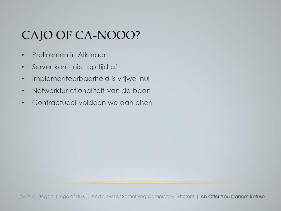 Cajo of ca-nooo Problemen in Alkmaar Server komt niet op tijd af