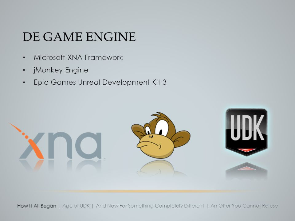 De game engine Microsoft XNA Framework jMonkey Engine