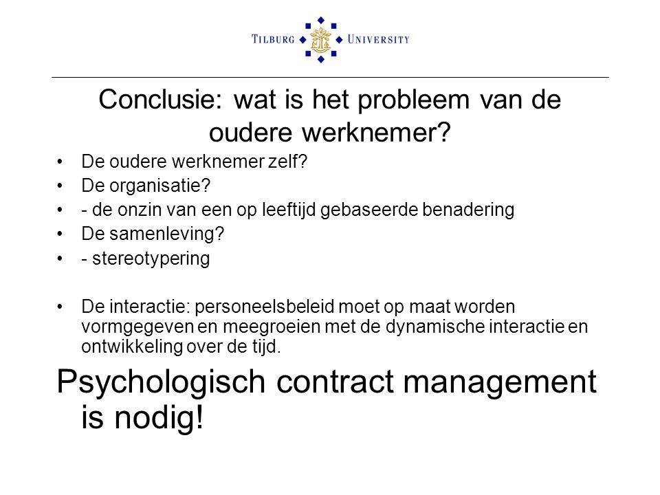 Conclusie: wat is het probleem van de oudere werknemer