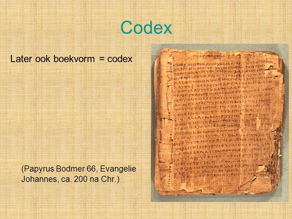 Codex (Papyrus Bodmer 66, Evangelie Johannes, ca. 200 na Chr.)