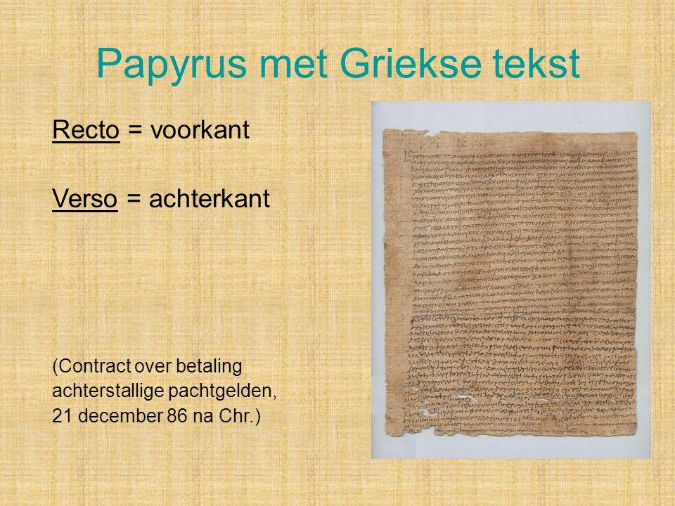 Papyrus met Griekse tekst
