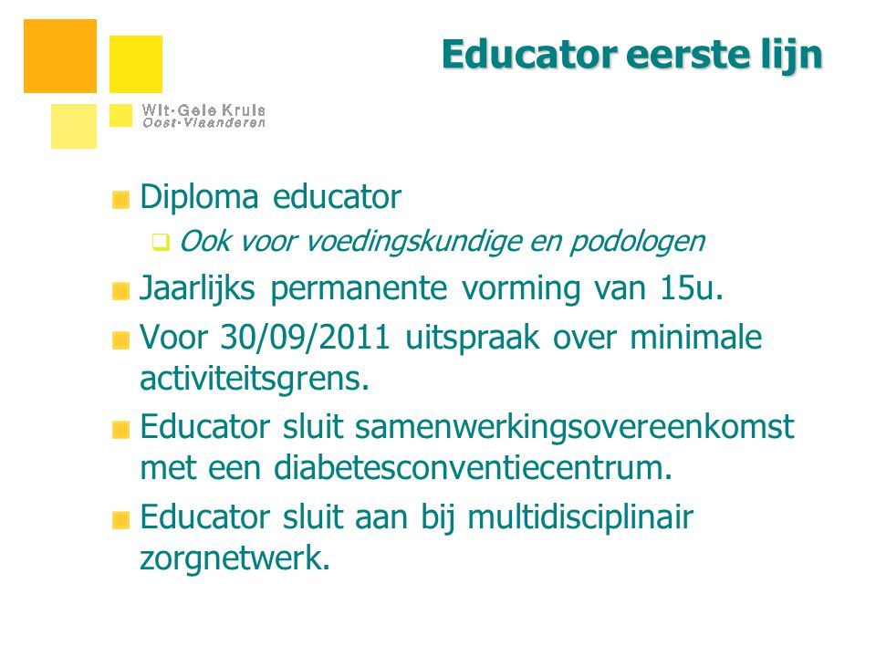 Educator eerste lijn Diploma educator