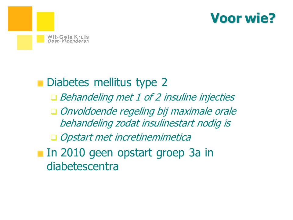 Voor wie Diabetes mellitus type 2