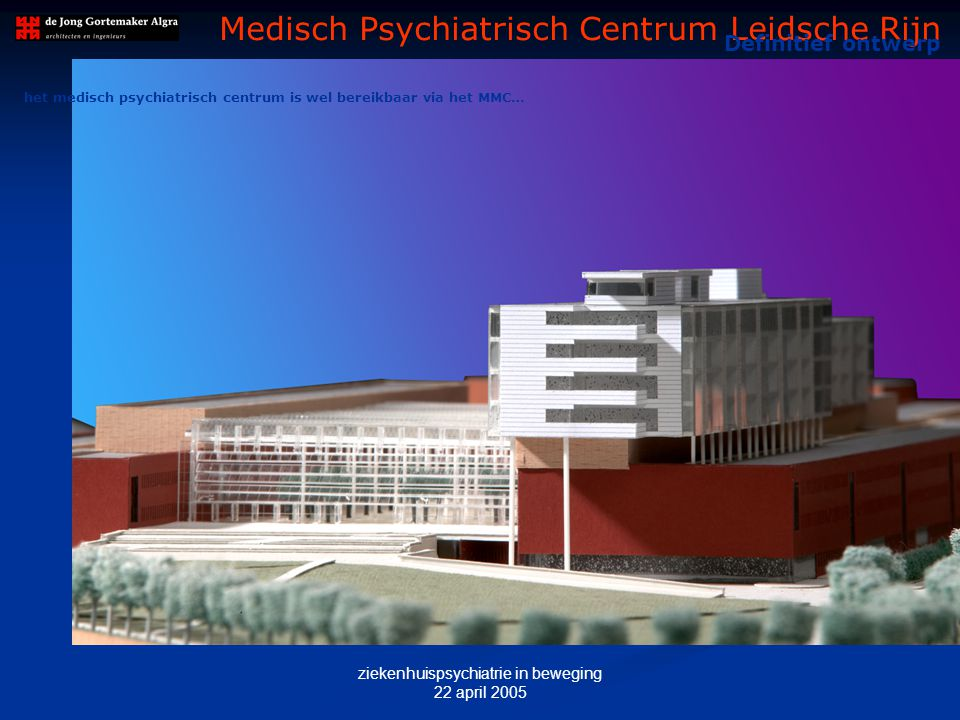 ziekenhuispsychiatrie in beweging 22 april 2005