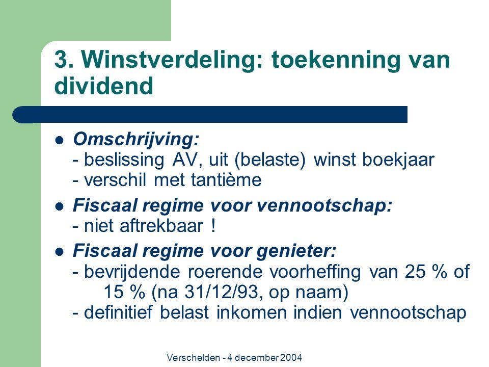 3. Winstverdeling: toekenning van dividend