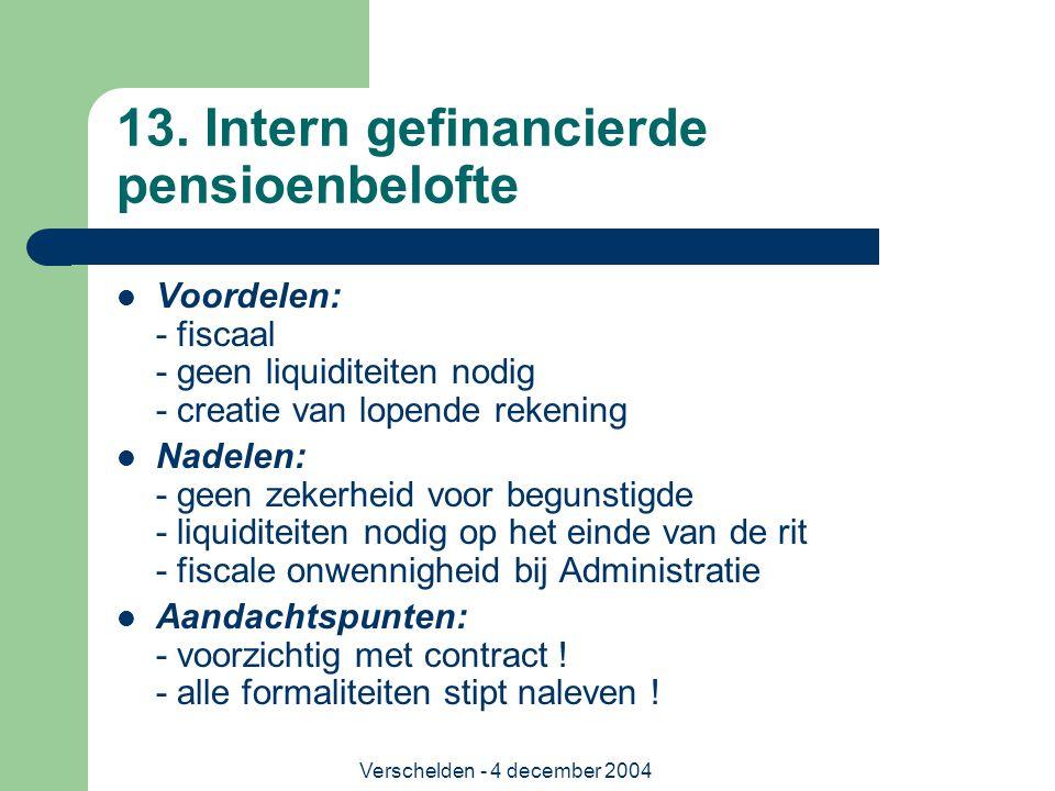 13. Intern gefinancierde pensioenbelofte