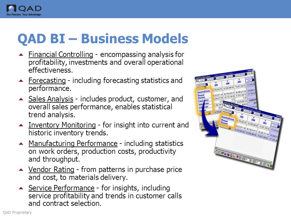 QAD BI – Business Models
