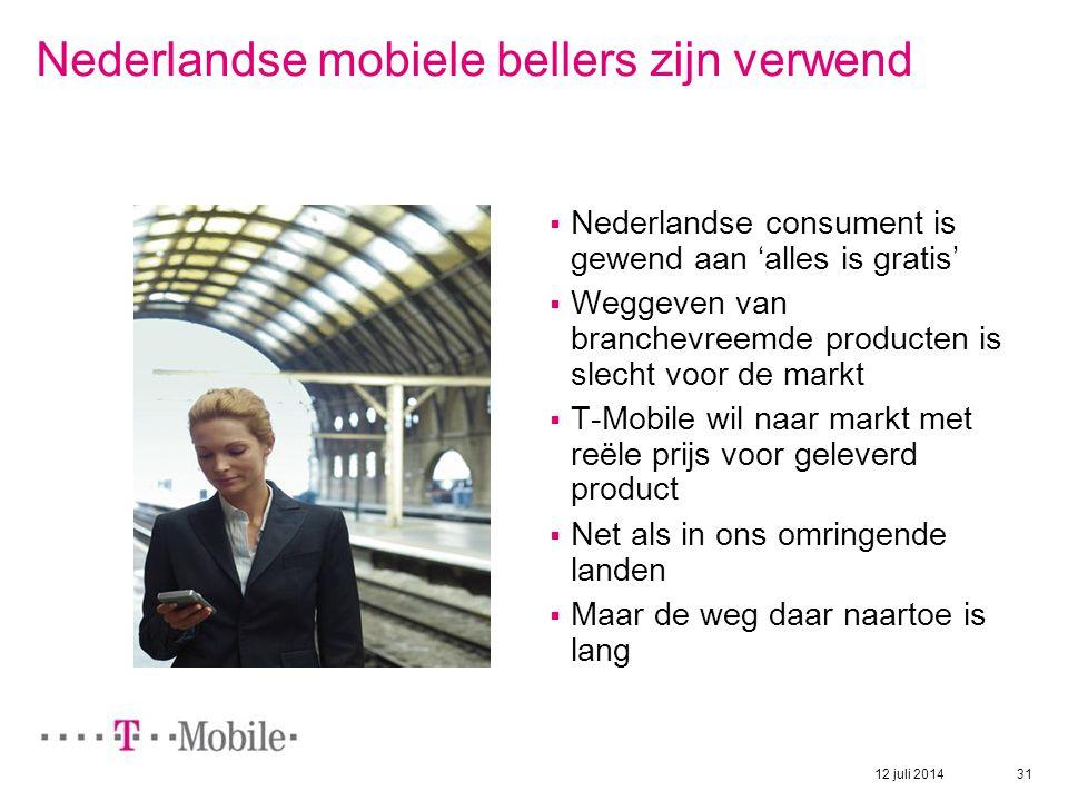 Nederlandse mobiele bellers zijn verwend