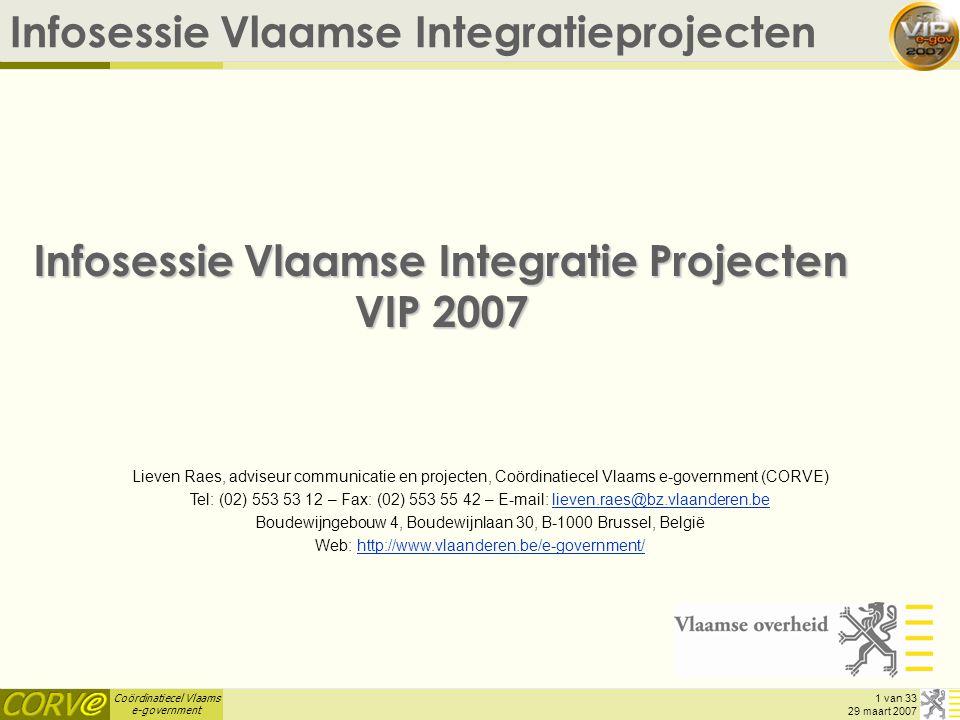 Infosessie Vlaamse Integratie Projecten VIP 2007