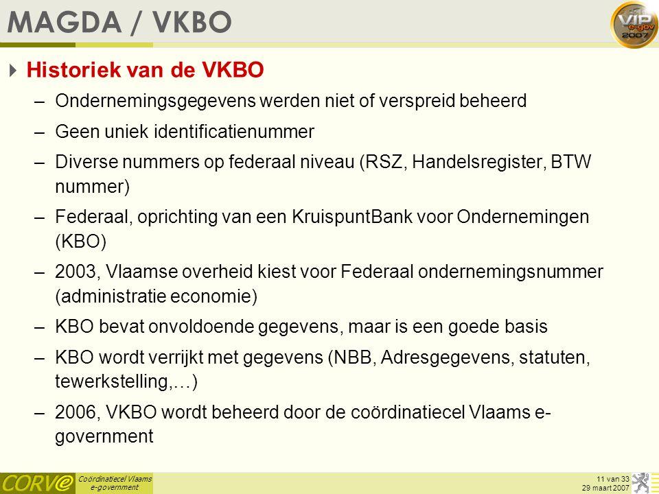 MAGDA / VKBO Historiek van de VKBO