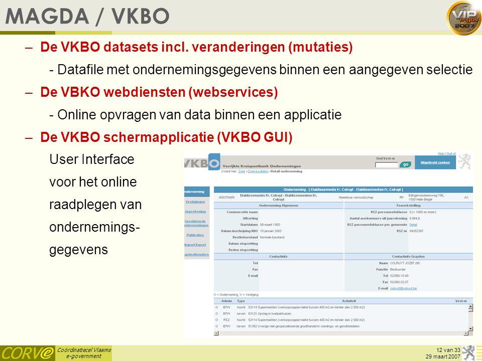 MAGDA / VKBO De VKBO datasets incl. veranderingen (mutaties)