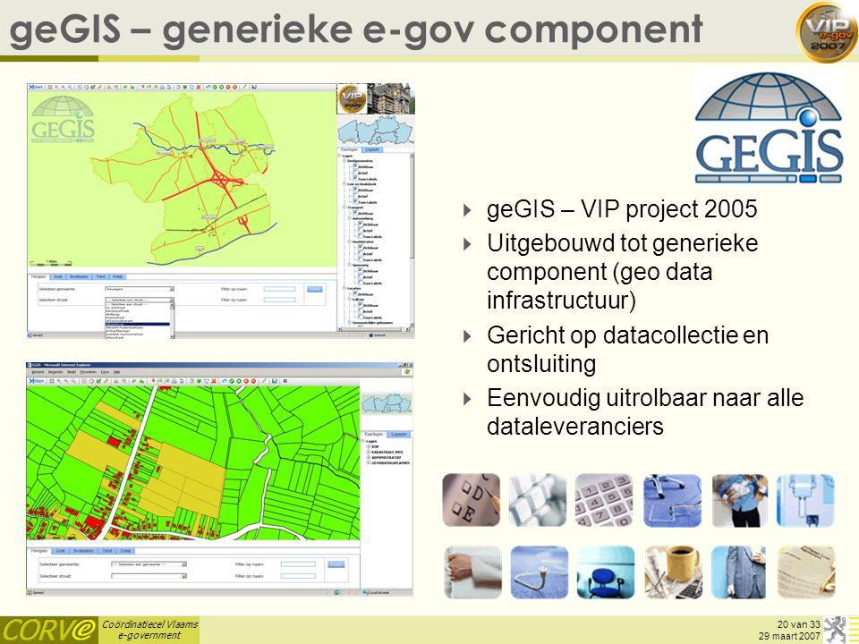 geGIS – generieke e-gov component