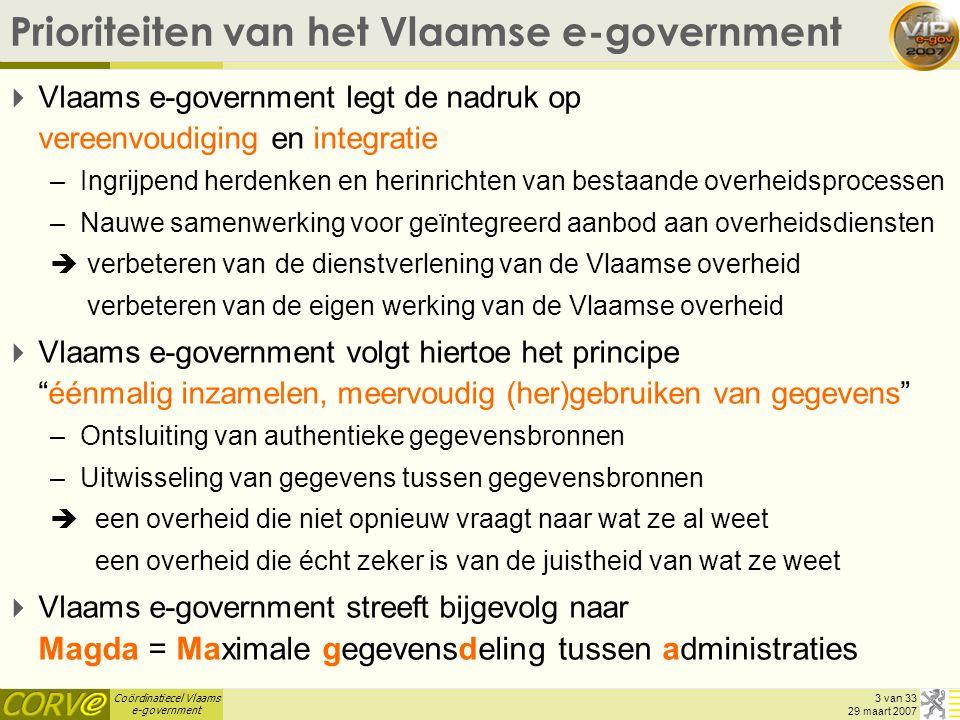 Prioriteiten van het Vlaamse e-government