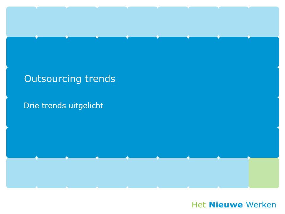 Drie trends uitgelicht