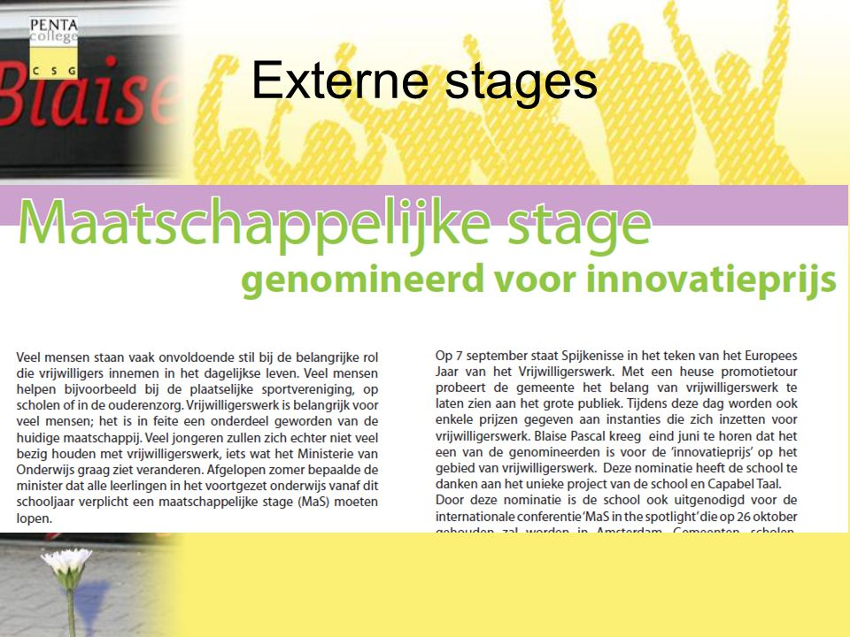 Externe stages