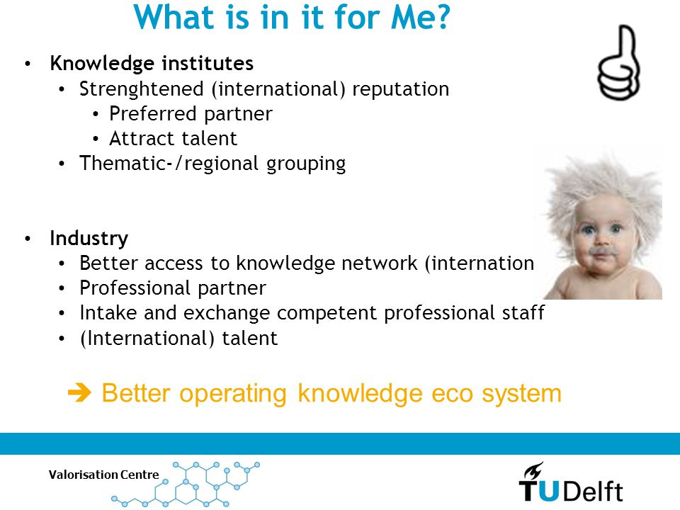 What is in it for Me  Better operating knowledge eco system