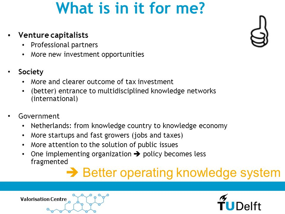 What is in it for me  Better operating knowledge system