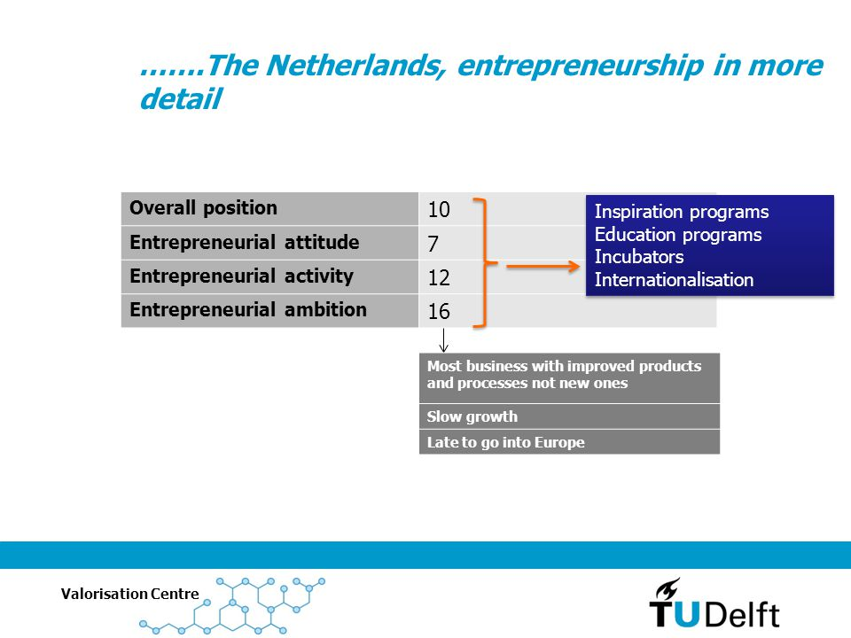 …….The Netherlands, entrepreneurship in more detail