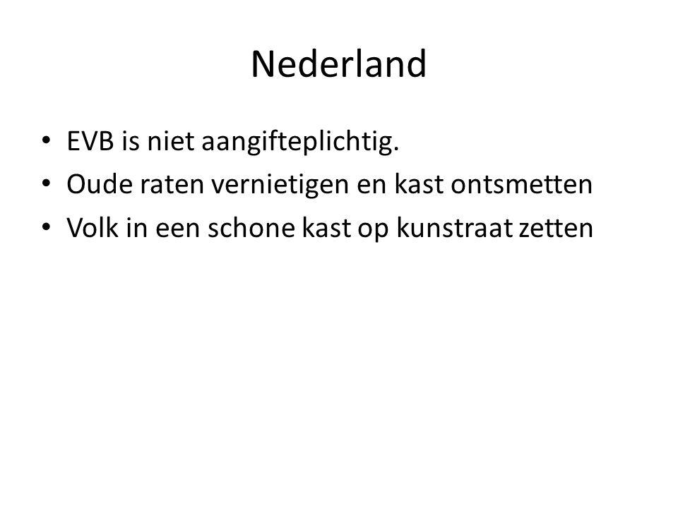Nederland EVB is niet aangifteplichtig.
