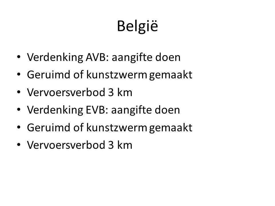 België Verdenking AVB: aangifte doen Geruimd of kunstzwerm gemaakt