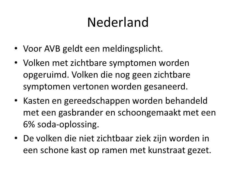 Nederland Voor AVB geldt een meldingsplicht.