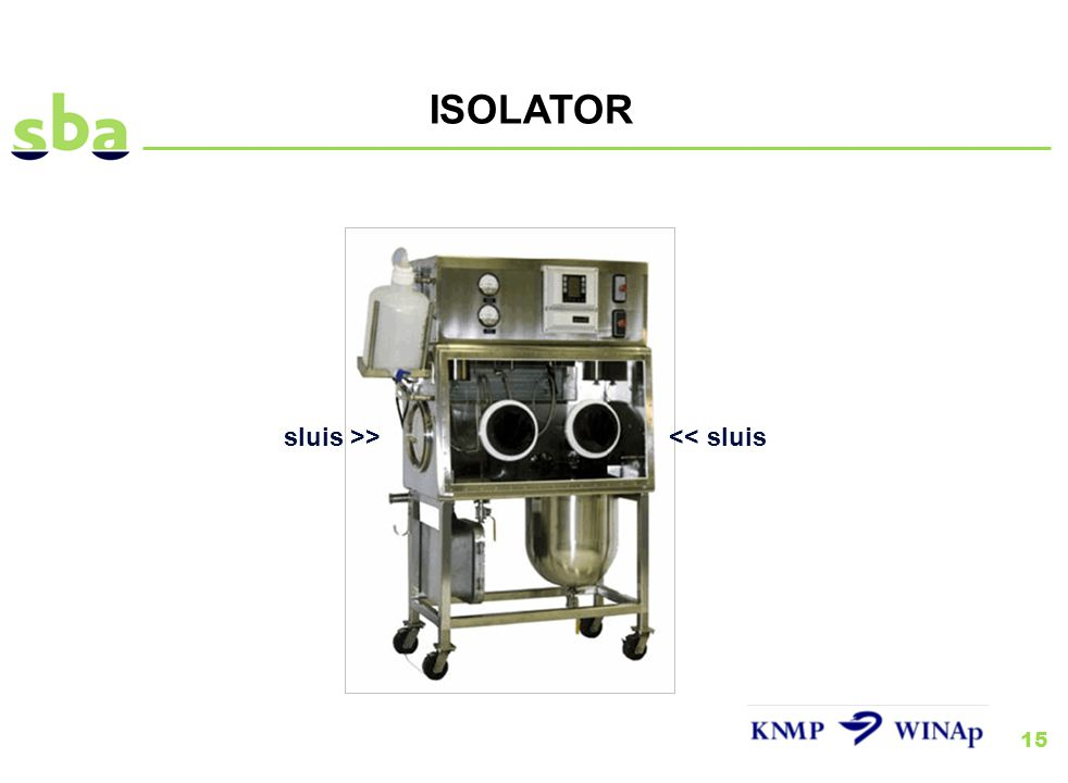 ISOLATOR sluis >> << sluis