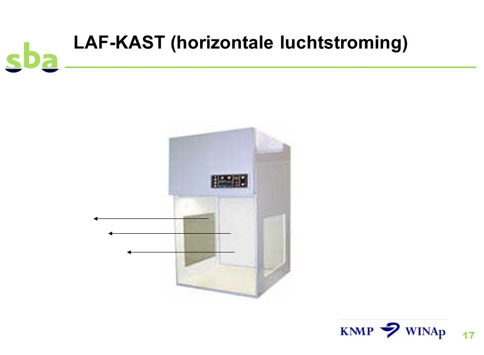 LAF-KAST (horizontale luchtstroming)