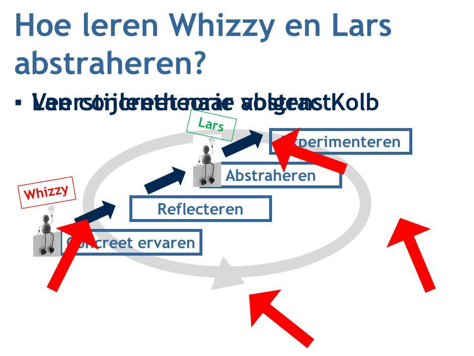 Hoe leren Whizzy en Lars abstraheren