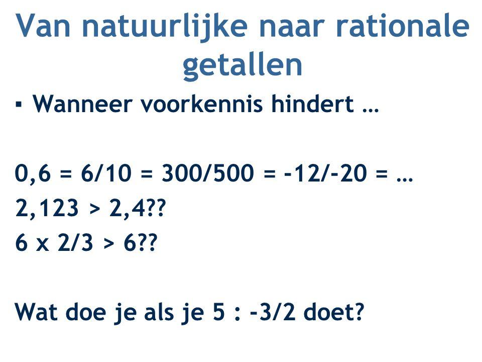 Van natuurlijke naar rationale getallen