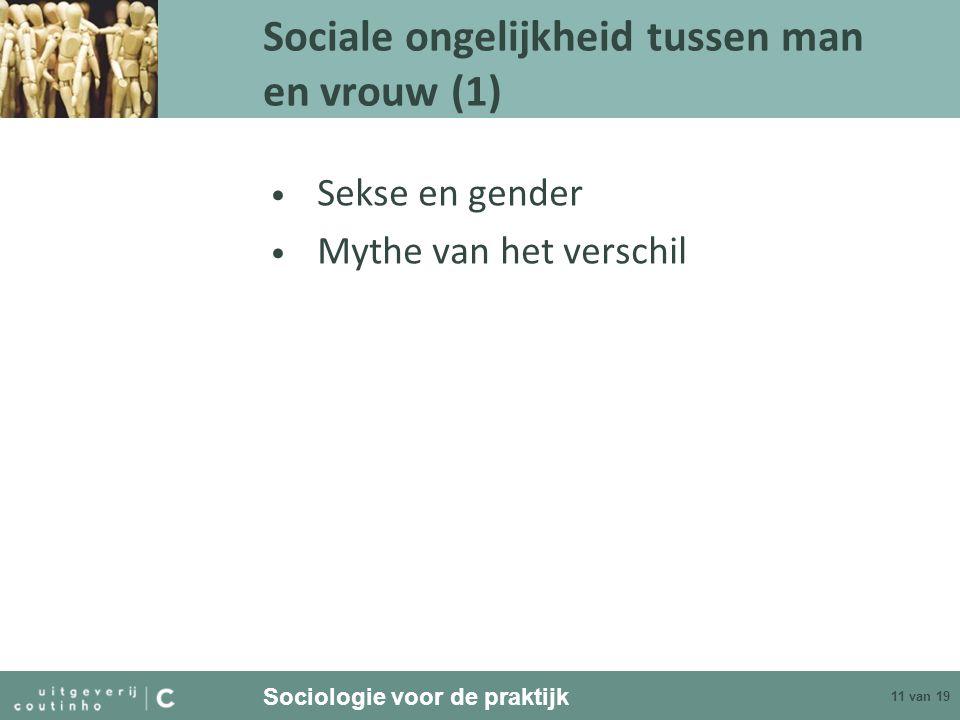 Sociale ongelijkheid tussen man en vrouw (1)