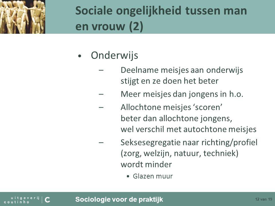 Sociale ongelijkheid tussen man en vrouw (2)