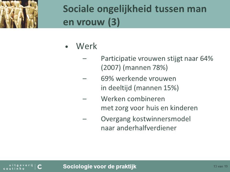 Sociale ongelijkheid tussen man en vrouw (3)