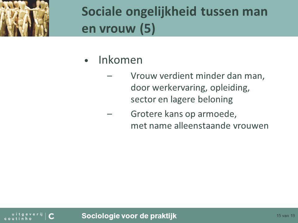 Sociale ongelijkheid tussen man en vrouw (5)