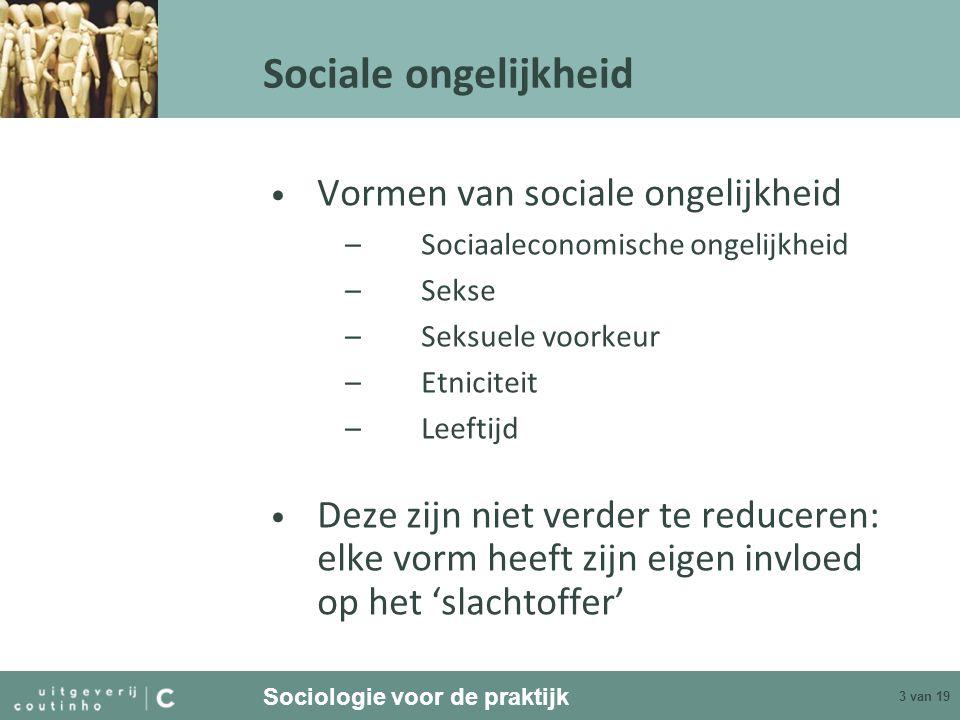Sociale ongelijkheid Vormen van sociale ongelijkheid