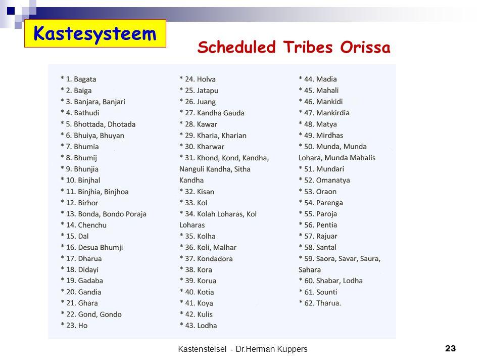 Scheduled Tribes Orissa