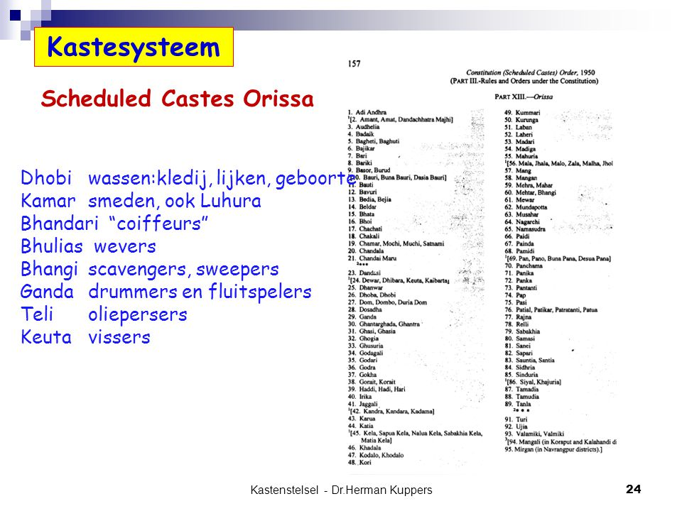 Scheduled Castes Orissa