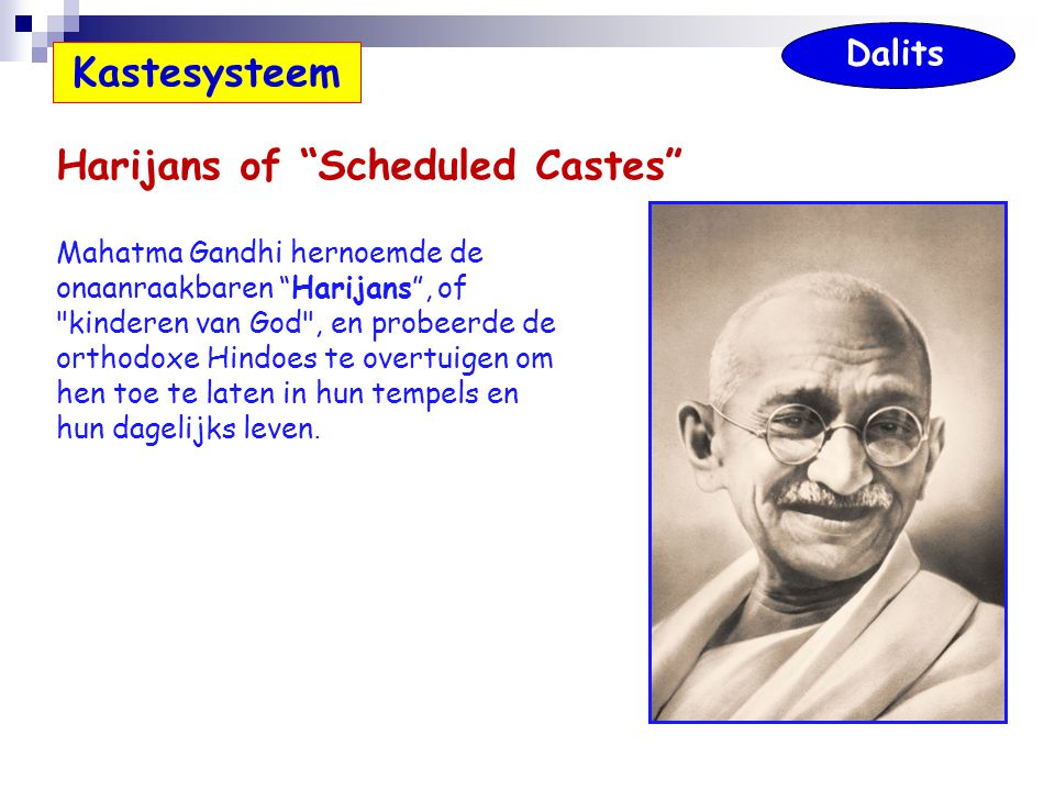 Harijans of Scheduled Castes