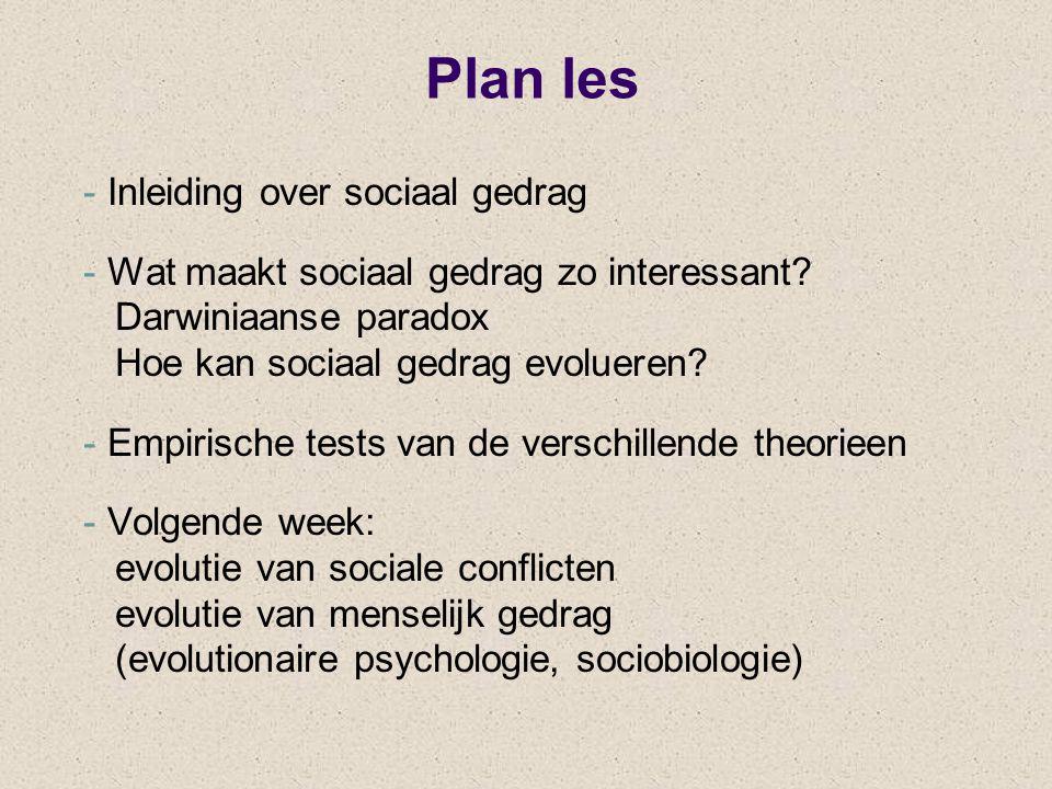 Plan les Inleiding over sociaal gedrag