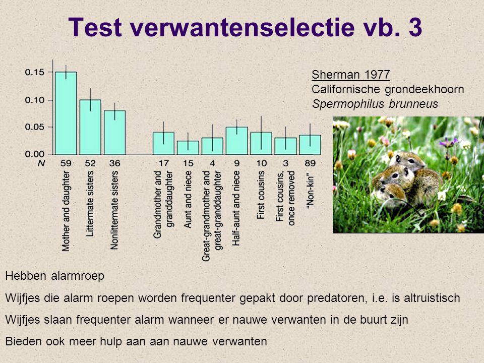 Test verwantenselectie vb. 3
